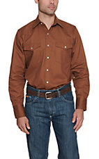 Cowboy Workwear®  Clay Brown Long Sleeve Work Shirt