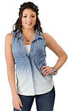Vintage Havana® Women's Denim Dip Dye Sleeveless Top
