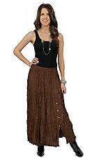 Crazy Cowgirl® Women's Chocolate Long Broomstick Skirt