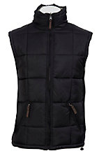 Rafter C Ranchwear Mens' Black and Stone Reversible Polyfill Quilted Vest CCJRVSTBLK