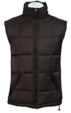 Rafter C Ranchwear Mens' Brown and Black Reversible Polyfill Quilted Vest CCJRVSTCHC