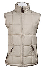 Rafter C Ranchwear Mens' Stone and Brown Reversible Polyfill Quilted Vest CCJRVSTSTN