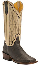 Cinch® Men's Cigar Caiman with Bone Goat Upper Exotic Square Toe Western Boots