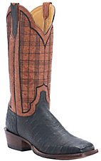 Cinch® Men's Black Caiman with Fango Mango Goat Upper Exotic Square Toe Western Boots