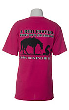 Cowgirls Unlimited® Ladies Pink A Real Cowgirl Romans 14:11 Short Sleeve Tee