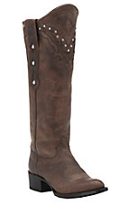 Johnny Ringo Women's Mad Dog Bone with Studded Tall Top Traditional Toe Western Boots