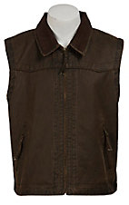 Cripple Creek Dark Brown Distructed Vest
