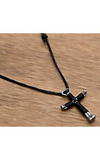 Disciple's Cross® Black Wire Wrap Cross Necklace