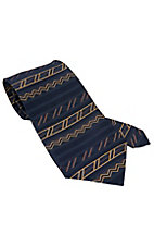 Circle S® Navy & Gold Southwest Neck Tie