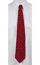 Circle S® Cardinal Red with Horseshoes Neck Tie