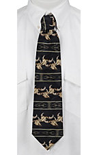 Circle S® Navy Southwest Skull Neck Tie