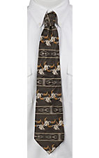 Circle S® Grey Southwest Skull Neck Tie
