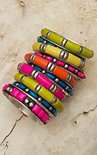 Gypsy Soule® 10 Piece Multicolor Bangle Set DB369
