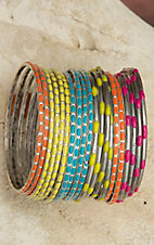 Gypsy Soule® 20 Piece Multicolor Bangle Set DB380