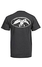 Duck Commander Men's Charcoal with White Logo S/S Tee