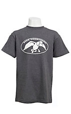 Duck Commander® Youth Charcoal with White Logo S/S Tee