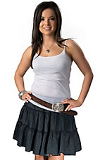 Cowgirl Justice® Women's Denim Tiered Skirt