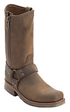 Double H Men's Distressed Brown Harness w/ Zipper Square Toe Western Boot