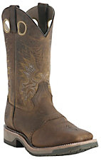 Double H® Men's Old Folklore Brown Saddle Vamp Square Toe Western Boot