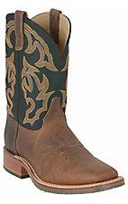 Double H® ICE Collection™ Men's Brown w/ Green Top Square Toe Western Work Boot