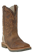 Double H® ICE Collection™ Men's Distressed Folklore Square Steel Toe Roper Work Boot