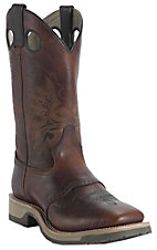 Double H Ice Collection Men's Briar Oiltan Brown Saddle Vamp Square Steel Toe Work Boot