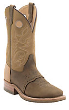 Double H Men's Olive/Khaki Oak Ice Saddle Vamp Square Toe Western Boots