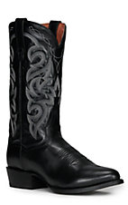 Dan Post Men's Black Marble Corona Western Boots