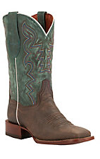 Dan Post® Ladies Copper Brown w/ Turquoise Top Square Toe Western Boots