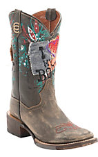 Dan Post� Women's Destroyed Tan I Luv My Boots Square Toe Western Boots