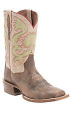 Dan Post� Men's Tan Maddog w/Natural Top Double Welt Cutter Toe Western Boots