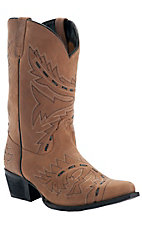 Dan Post® Youth Tan Sidewinder Black Laced Snip Toe Western Boot