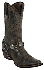 Durango® Men's Distressed Brown Calico Concho Harness Snip Toe Western Boot