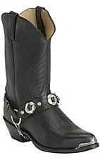 Durango® Men's Black with Concho and Toe Rand Western Boots