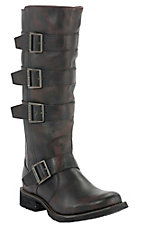 Durango® Women's Savannah Bourbon w/ Tall Top Quad Buckle Round Toe Boots