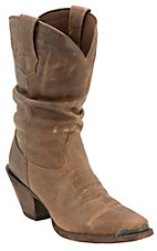 Durango Crush Ladies Distressed Brown Snip Toe Slouch Boots
