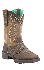 Durango Rebel Ladies Nicotine Distressed Shrunken Cowhide Square Toe Western Boots