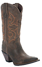 Durango® Crush™ Ladies Brown Burnished Rock N Scroll Snip Toe Western Boots