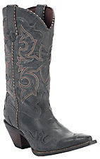 Durango® Crush™ Ladies Smoke Grey Burnished Rock N Scroll Snip Toe Western Boots