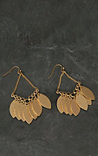 Pannee® Gold Hammered Disk Dangle Earrings