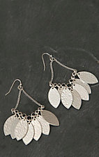 Pannee® Silver Hammered Disk Dangle Earrings