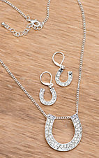 Silver Strike® Embellish Silver Horseshoe Jewelry Set