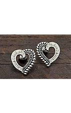 Montana Silversmiths® Twisted Rope and Crystals Post Earrings