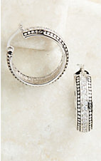 Montana Silversmiths® Silver with Crystals Hoop Earrings