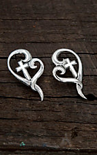 Montana Silversmiths® A Heart Open to Faith Post Earrings
