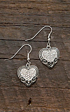 Montana Silversmiths® Vintage Charm Our Prairie Mothers Heart Earrings
