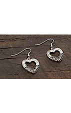 Montana Silversmiths® Vintage Charm Something Old Something New Heart Earrings