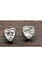 Montana Silversmiths® Crystal Heart Filigree Channel Stud Earrings