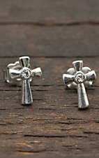 Montana Silversmiths® Small Silver Cross Earring
