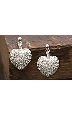 Montana Silversmiths® Puffy Pave Heart Crystal Earrings